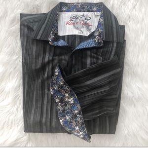 Robert Graham Sport Shirt with Flip Cuffs XL